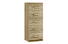 Maysons Modena 5 Drawer Narrow Chest