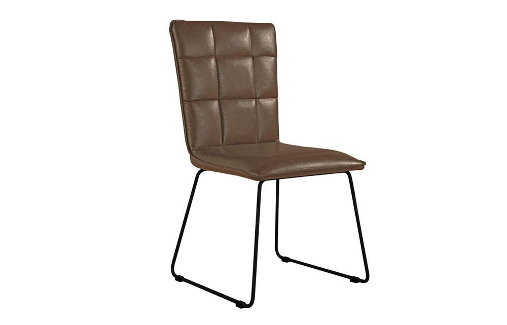 Manor Collection Berwick Panel Back Chair with Angular Legs (Brown)