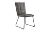 Manor Collection Berwick Panel Back Chair with Angular Legs (Grey)