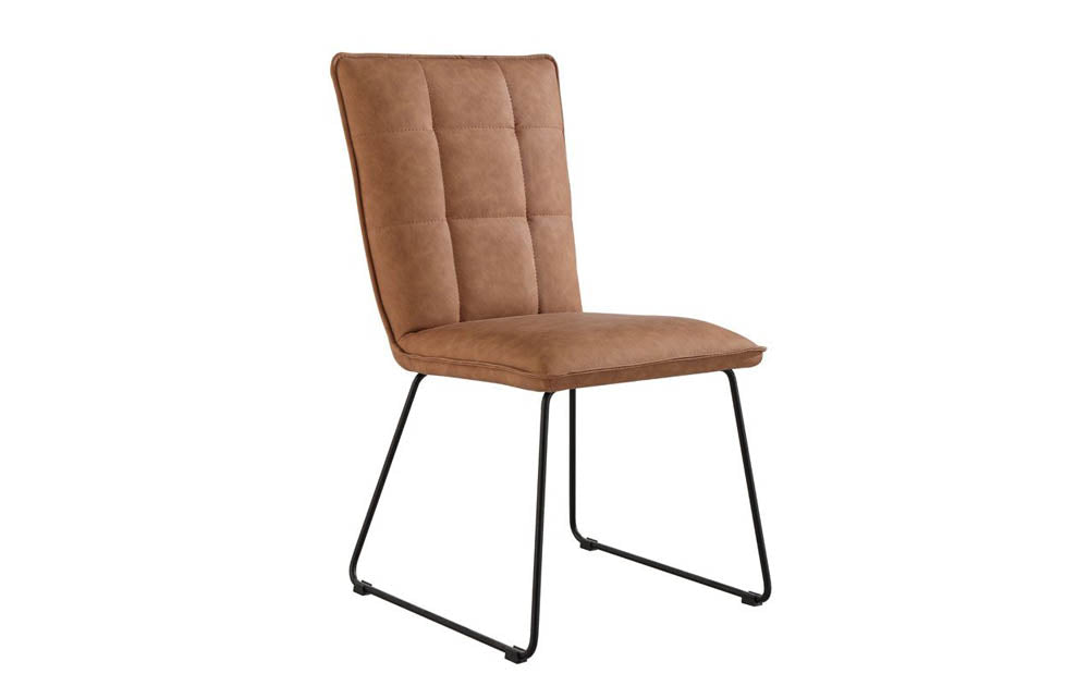 Manor Collection Berwick Panel Back Chair with Angular Legs (Tan)