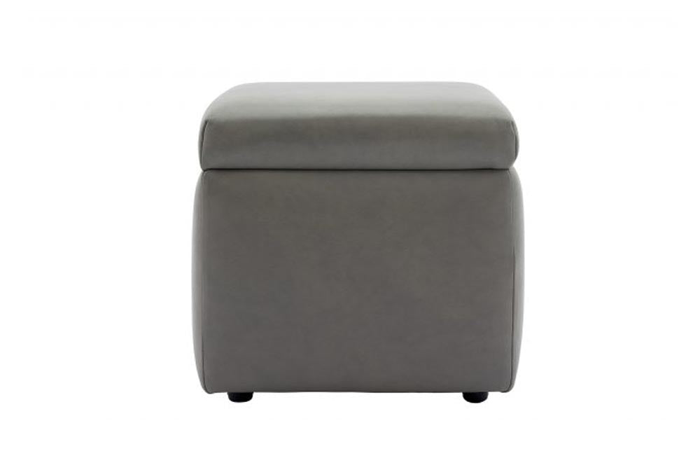 G Plan Spencer Storage Footstool (Leather)