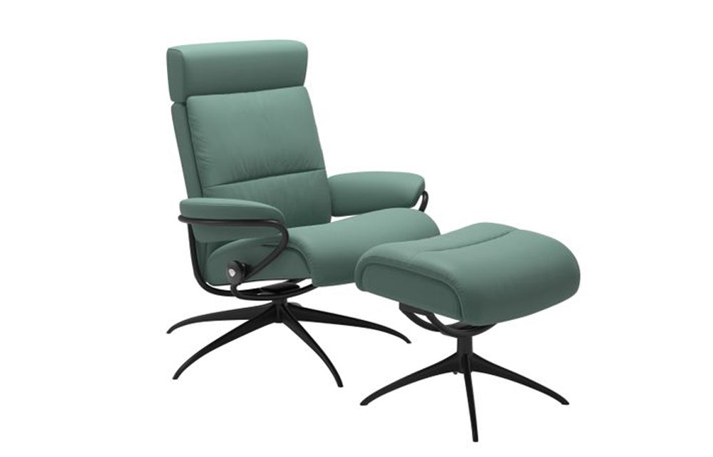 Stressless Tokyo Chair with Adjustable Headrest and Stool (Star Base)