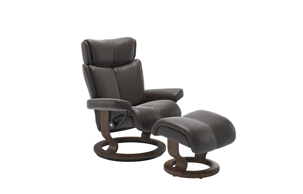 Stressless Magic Reclining Chair with Footstool (M) (Classic Base)