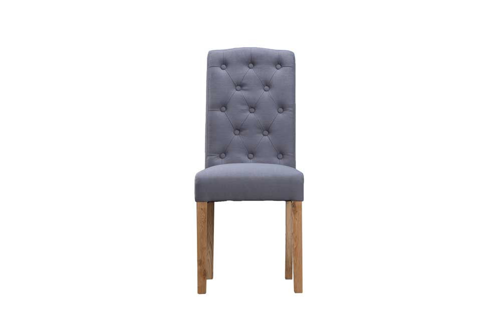Manor Collection Upholstered Button Back Chairs - Grey