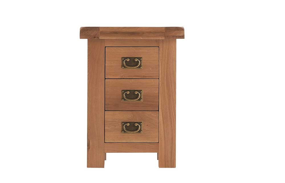 Manor Collection Lockwood Oak Large 3 Draw Bedside