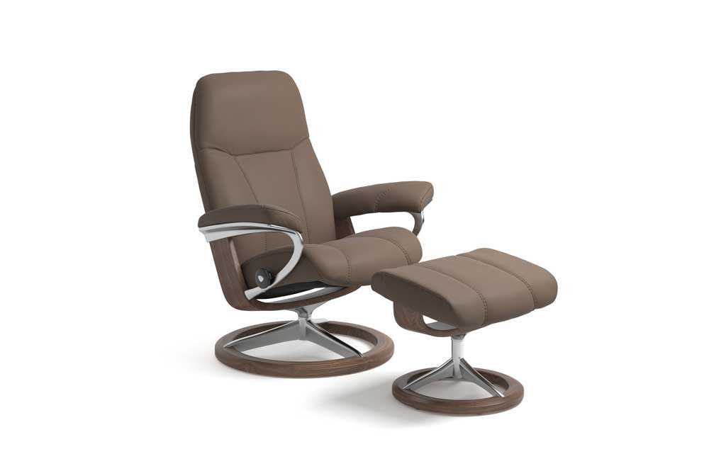 Stressless Consul Recliner Chair with Footstool