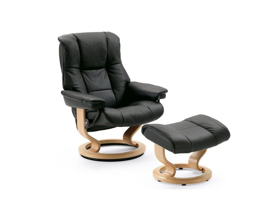 Stressless Mayfair Recliner Chair with Footstool (S)
