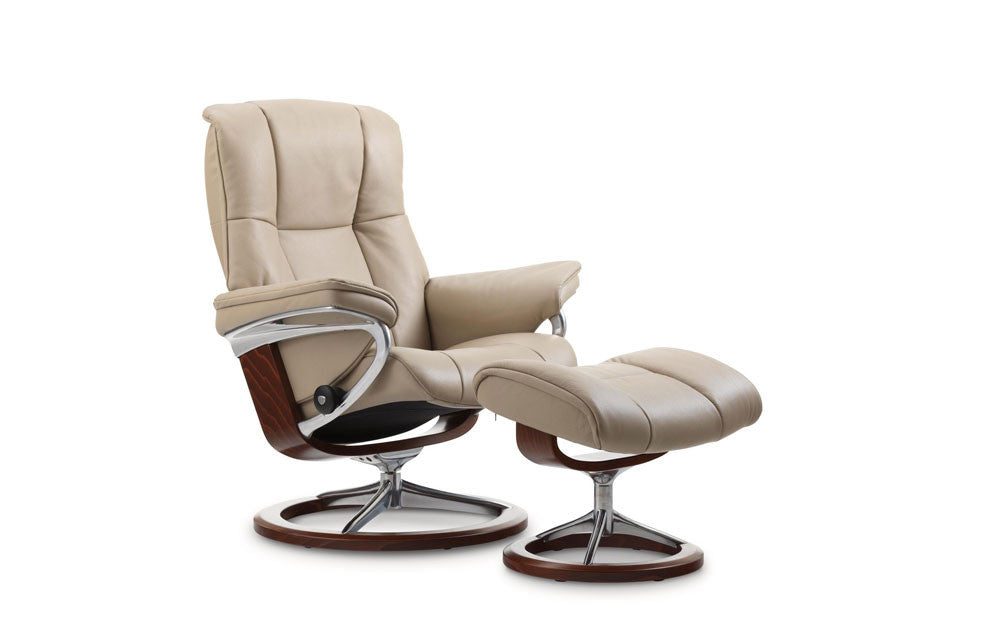 Stressless Mayfair Recliner Chair with Footstool (L)