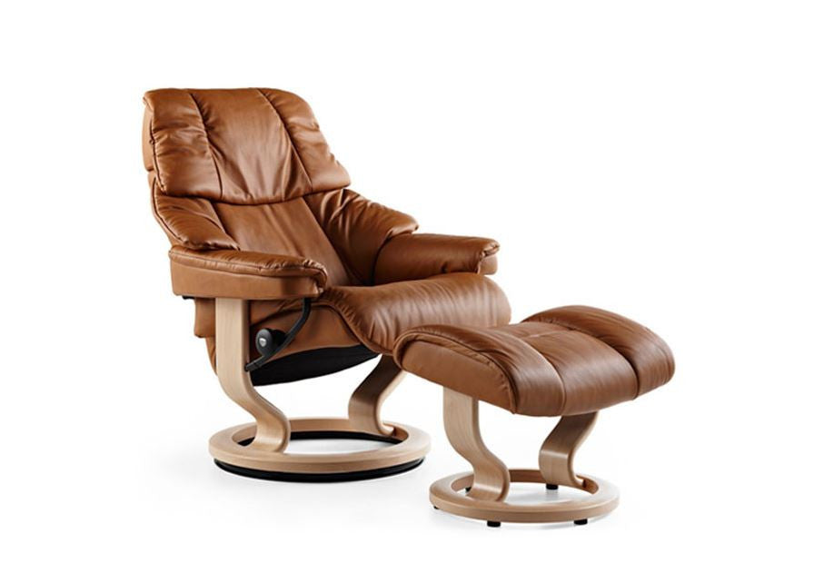 Stressless Reno Recliner Chair with Footstool (S)