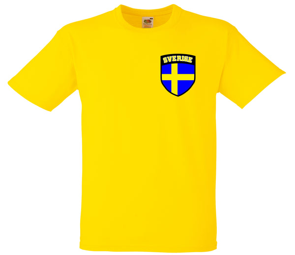 a21e06a3de0 Kids Sweden Sverige Flag Shield Football Soccer T-Shirt