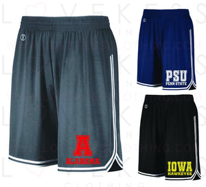 Boys College Mesh Basketball Shorts with Stripe - lovekess - clothing