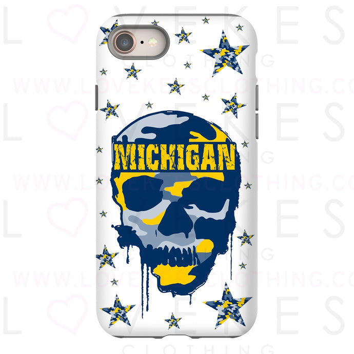 College Camo Dripping Skull Phone Case - lovekess - clothing