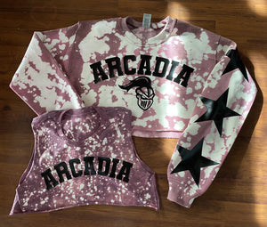 Cropped bleached College Commitment Set - lovekess - clothing