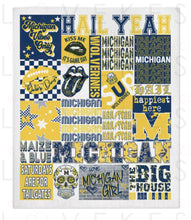 Load image into Gallery viewer, CUSTOMIZE YOUR OWN College Spirit Custom Fleece Blanket by LoveKess Clothing - lovekess - clothing