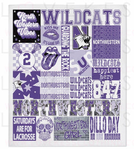 CUSTOMIZE YOUR OWN Custom College SPORTS Spirit Fleece Blanket by LoveKess Clothing - lovekess - clothing