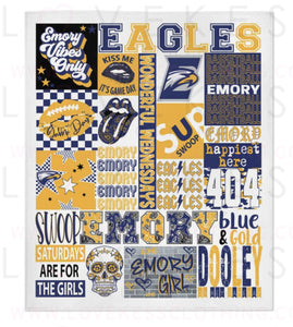 Emory University College Spirit Blanket by LoveKess Clothing - lovekess - clothing