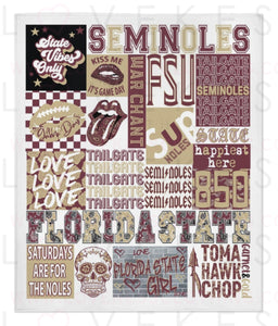 FSU (Florida State University) College Spirit Custom Fleece Blanket by LoveKess Clothing - lovekess - clothing