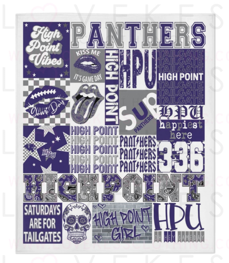 High Point University College Spirit Blanket by LoveKess Clothing - lovekess - clothing