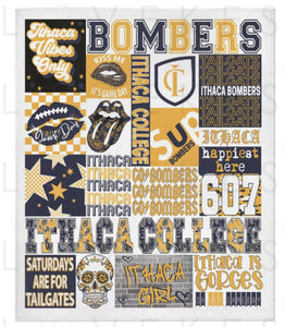 Ithaca College Custom College Spirit Fleece Blanket by LoveKess Clothing - lovekess - clothing