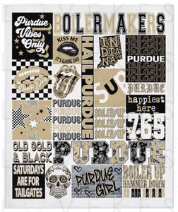 Purdue University College Spirit Blanket by LoveKess Clothing - lovekess - clothing