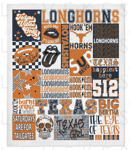 Texas -Austin College Spirit Custom Fleece Blanket by LoveKess Clothing - lovekess - clothing