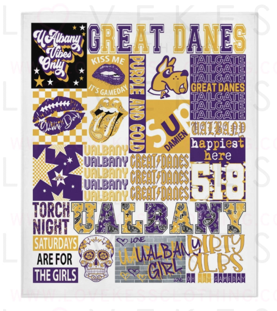 University of Albany (UAlbany) College Spirit Blanket by LoveKess Clothing - lovekess - clothing