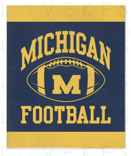 Load image into Gallery viewer, University of Michigan Boys Custom College Fleece Blanket by LoveKess Clothing - lovekess - clothing