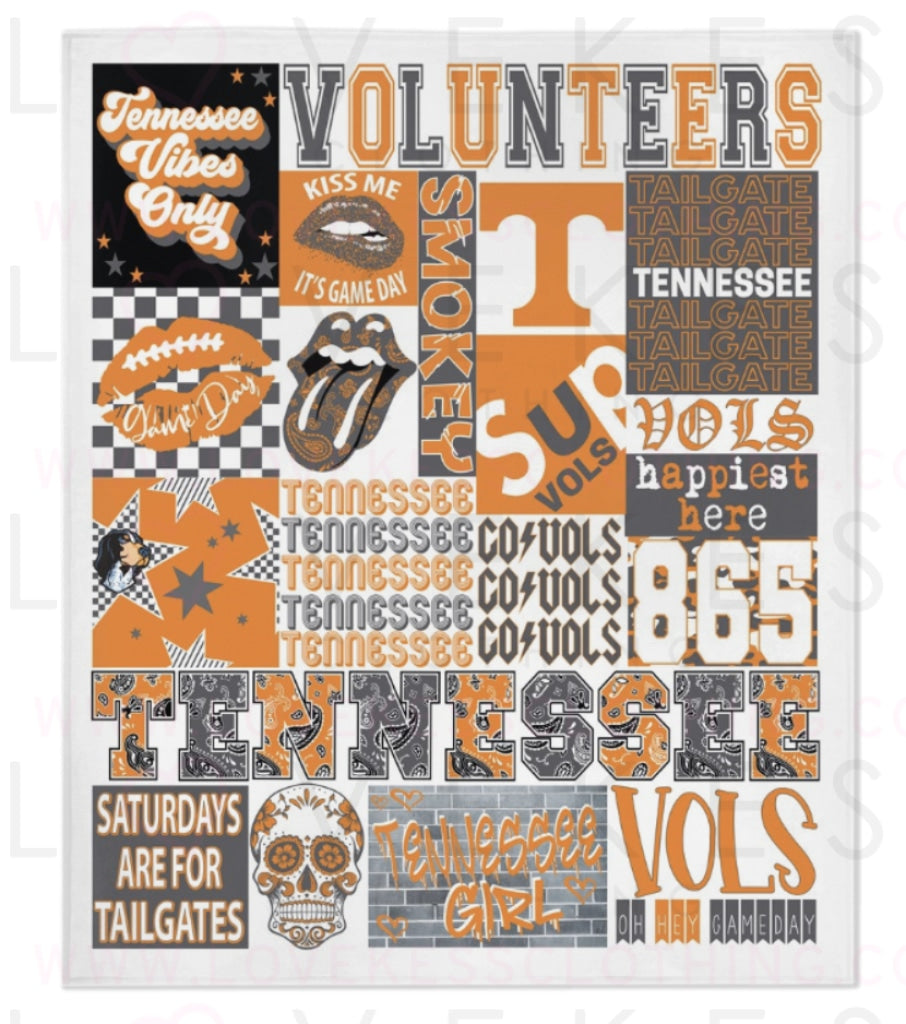 University of Tennessee College Spirit Blanket by LoveKess Clothing - lovekess - clothing