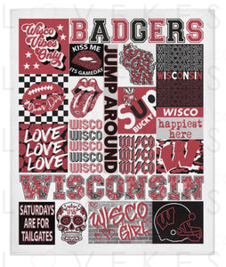 University Of Wisconsin College Spirit Custom Fleece Blanket By Lovekess Clothing