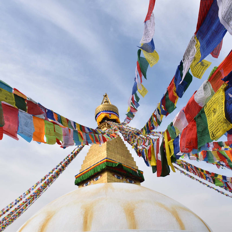 Buddhist Tibetan Prayer Flags hand-crafted in Nepal