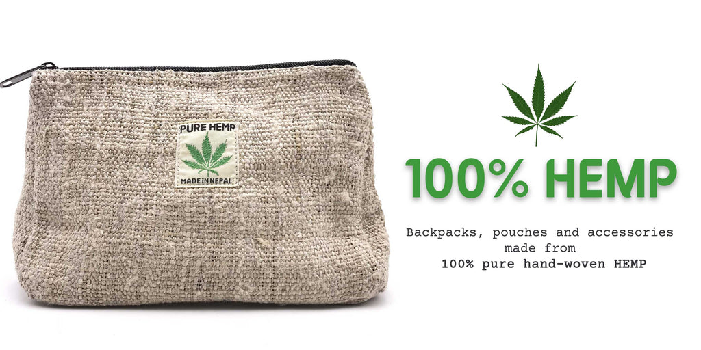 Hemp Bags and Backpacks made from 100% pure hemp