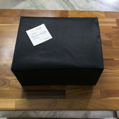 Satin Black Gift Wrap