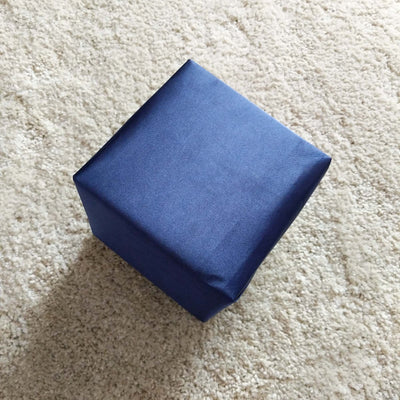 Satin Blue Gift Wrap