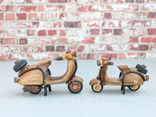 Load image into Gallery viewer, Miniature Vespa scooter hand-crafted from wood