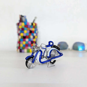 Miniature Wire Art Vespa Scooter hand-crafted from aluminium wire