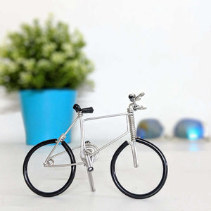 Miniature Wire Art Bicycle D hand-crafted from aluminium wire