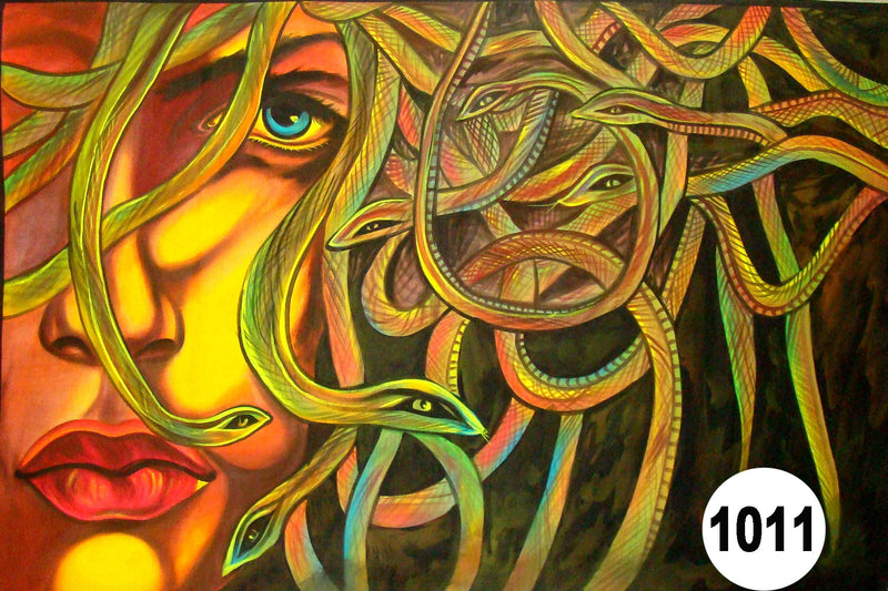UV Glow Painting Face and Snakes