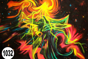 UV Glow Painting Abstract Art