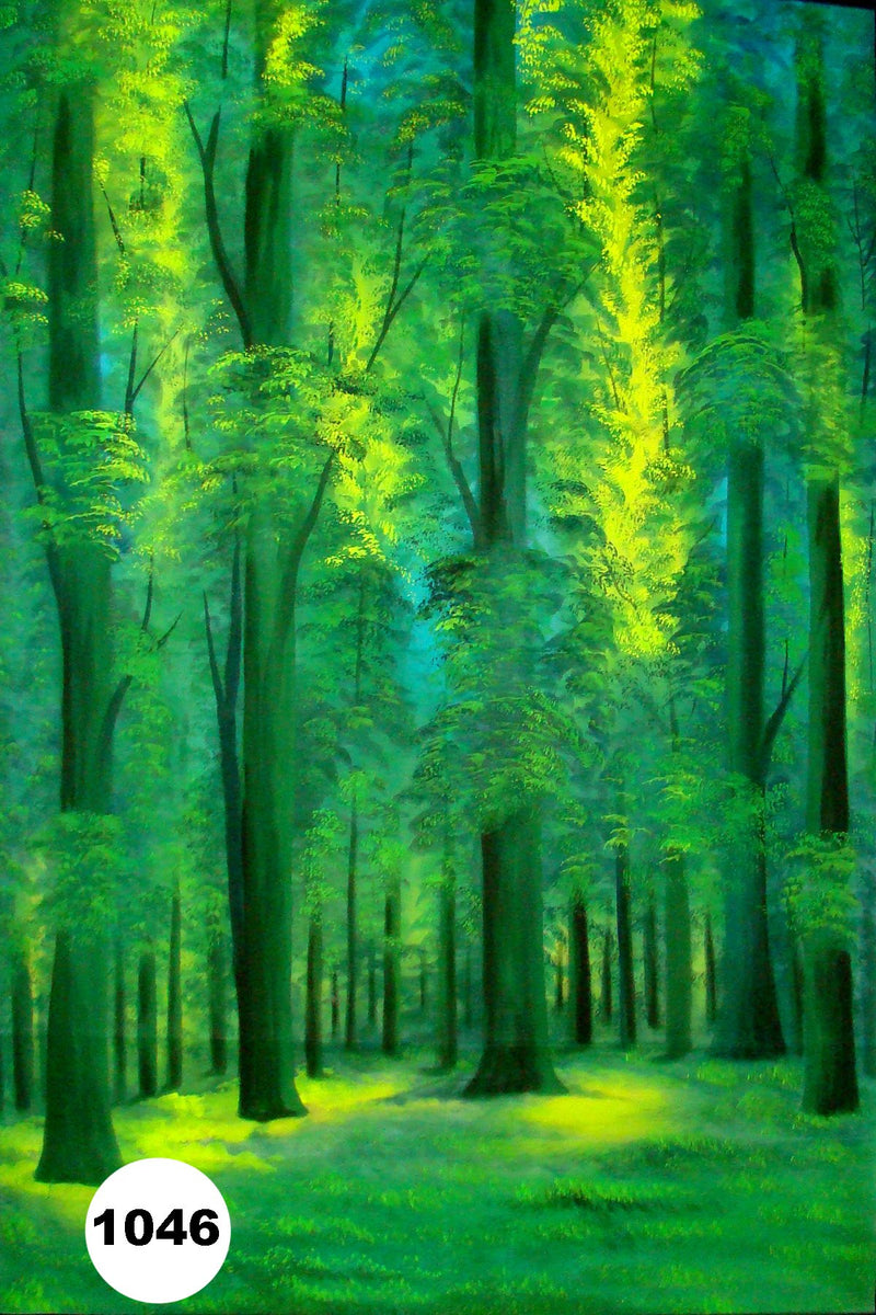 UV Glow Painting Green Jungle View