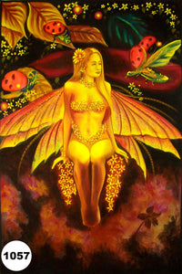 UV Glow Painting Orange Fairy