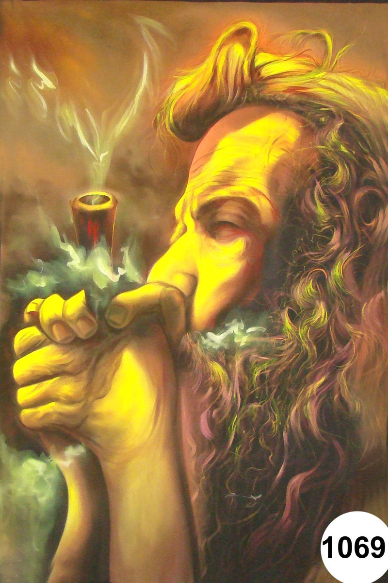 UV Glow Painting Chillum Baba
