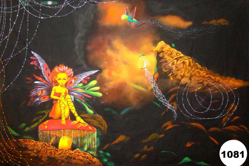 UV Glow Painting Fairy Abstract