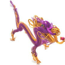 Load image into Gallery viewer, Hand-crafted wire art dragon