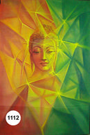 UV Glow Painting Lord Buddha Abstract