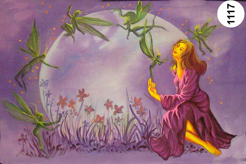 UV Glow Painting Women with Grass Fairies