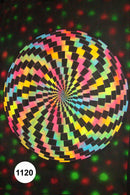 UV Glow Painting Circular Abstract