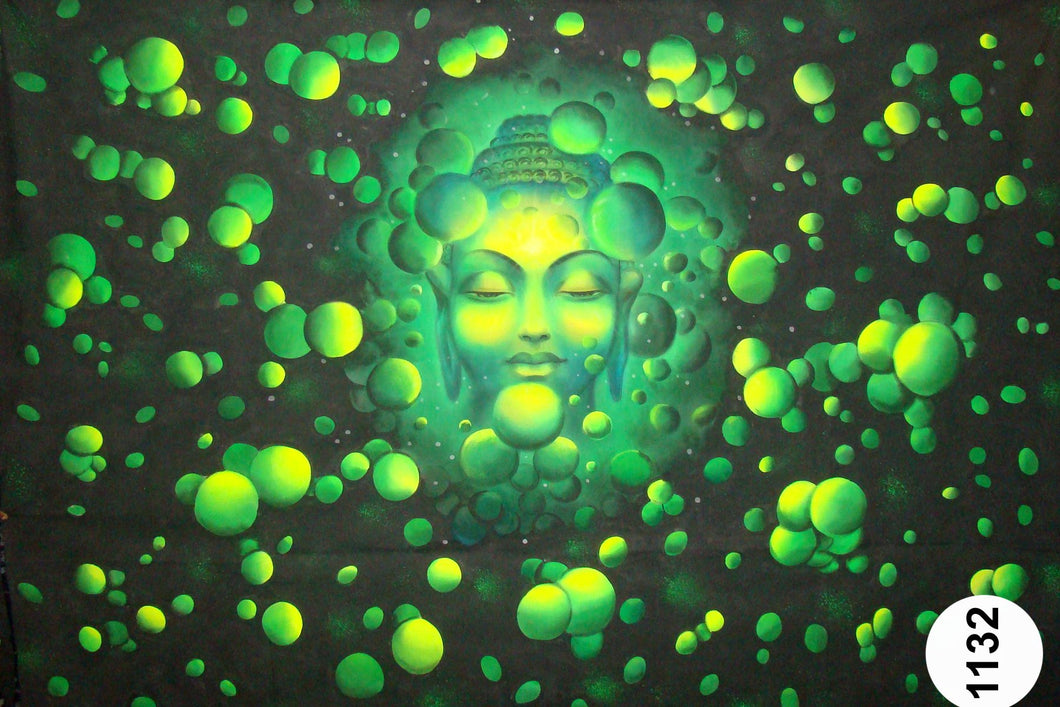 UV Glow Painting Lord Buddha Head Balls