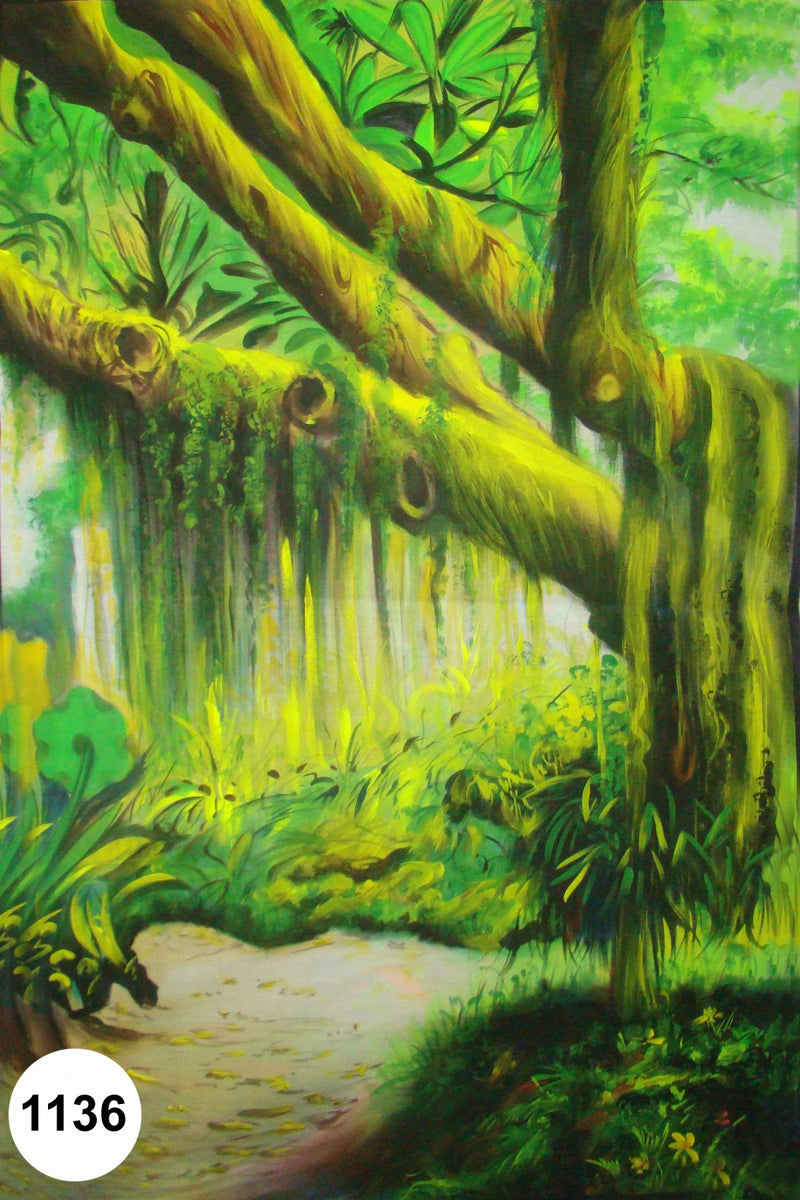 UV Glow Painting Jungle Scenery