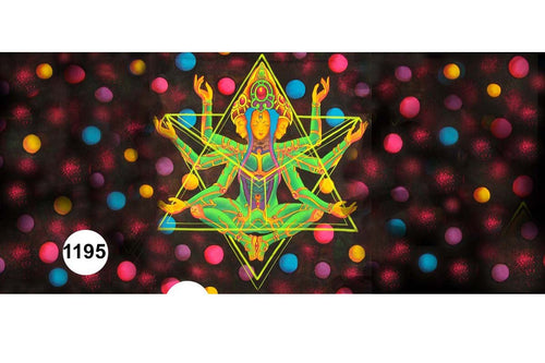 UV Glow Painting Tara Goddess Abstract