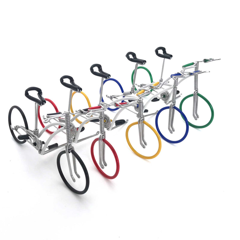 Miniature Wire Art Bicycle B hand-crafted from aluminium wire